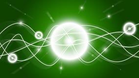 Wallpaper för gröna waves för Shine HD Arkivbild