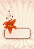 wallpaper för orchidvektorvertical vektor illustrationer