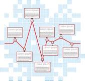 wallpaper för vektor för affärsdiagram seamless Arkivbild