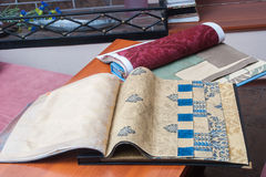 Wallpaper and fabric Stock Photos