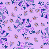 Wallpaper floral fantasy pink pattern Stock Image