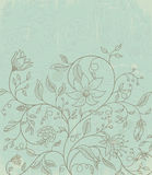 Wallpaper with floral pattern Royalty Free Stock Photo