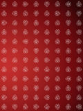 Wallpaper with flower design. Red wallpaper with flower design Stock Photography