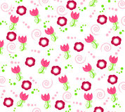 Wallpaper with flower ornaments. Wallpaper/background design with flowers, twirls and abstract little ornaments Stock Photography