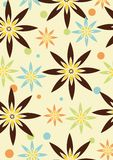 Wallpaper flowers. Retro wallpaper with flowers soft colors Royalty Free Stock Image