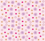 Wallpaper with flowers vector illustration