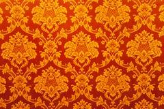 wallpaper för garneringguldtextur Arkivfoto