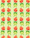 Wallpaper frog wiht colorful ball Stock Images
