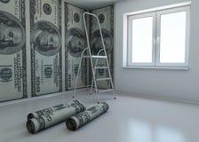 Wallpaper gekopierten Dollar als Symbol - das Geld Stockfotos