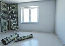 Wallpaper gekopierten Dollar als Symbol - das Geld Lizenzfreie Stockbilder