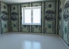 Wallpaper gekopierten Dollar als Symbol - das Geld Lizenzfreie Stockfotos