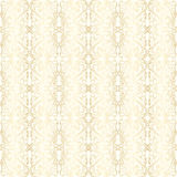 Wallpaper with gold floral pattern Stock Images