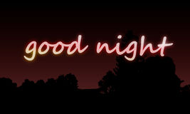 Wallpaper goodnight. Tek inscribed with glow effect Royalty Free Stock Image