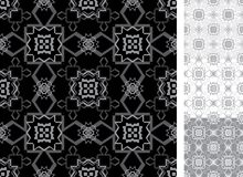 Wallpaper gray geometry. Geometry pattern wallpaper with four color versions Stock Photo