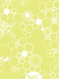 Wallpaper green. An abstract background made up of white circles on a green background Stock Image