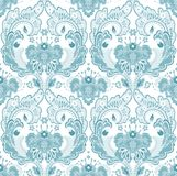 Wallpaper grey-blue. Floral textile pattern and wallpaper pattern Royalty Free Stock Photography