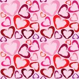 Wallpaper with hearts Stock Image