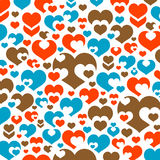 Wallpaper of hearts Royalty Free Stock Images