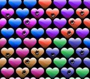 Wallpaper of hearts Stock Photos