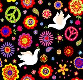 Wallpaper with hippie symbolic Stock Photography
