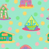 Wallpaper with Houses royalty free stock photo