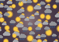 A wallpaper illustration made by meteorological signs Stock Photos