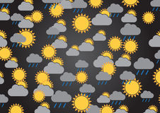 A wallpaper illustration made by meteorological signs Stock Images