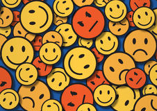 A wallpaper illustration made by smiley faces Stock Image