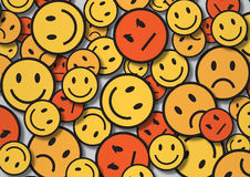 A wallpaper illustration made by smiley faces Royalty Free Stock Photo