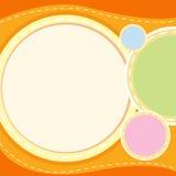 A wallpaper. Illustration of an orange wallpaper vector illustration