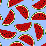 Wallpaper juicy summer watermelon slices on a white background.T Royalty Free Stock Images