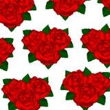 Wallpaper las rosas rojas en un fondo blanco con las hojas Imagen de archivo