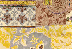 Wallpaper layers. Fragment of fabric wallpaper layers Stock Images