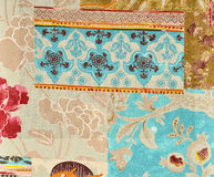 Wallpaper layers. Fragment of fabric wallpaper layers Royalty Free Stock Photo