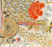 Wallpaper layers. Fragment of fabric wallpaper layers Royalty Free Stock Images