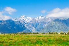 Wallpaper of Mount Tasman and Aoraki Mt.cook Stock Photo