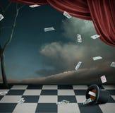 Wallpaper o un teatro del cartel Imágenes de archivo libres de regalías