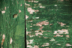 Wallpaper - old green paint on wood Royalty Free Stock Images