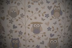 Wallpaper of owls royalty free stock photo