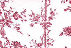 Wallpaper painting of red Jouy Stock Image