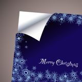 Wallpaper paper curl christmas Royalty Free Stock Photos