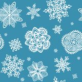 Wallpaper with paper snowflakes Royalty Free Stock Photography