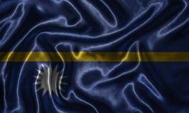 Wallpaper par le drapeau du Nauru et le drapeau de ondulation par le tissu photos libres de droits