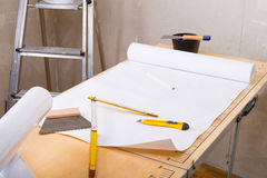 Pasting table stock photo