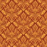 Wallpaper pattern. Damask seamless tiling wallpaper pattern Stock Photos