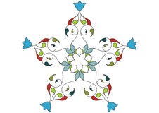 Wallpaper pattern. Ottoman style wallpaper pattern and shape Royalty Free Stock Photos
