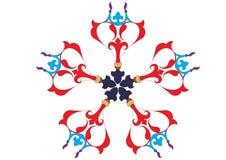 Wallpaper pattern. Ottoman style wallpaper pattern and shape Stock Photography