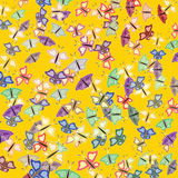 Wallpaper pattern with butterfly Royalty Free Stock Photography