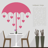 Wallpaper pattern design for dining area decorate Stock Photography