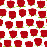 Wallpaper pattern with of red roses Stock Images